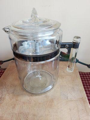 Vintage rare pyrex stick handle stove top percolator. for Sale in Cranston, RI