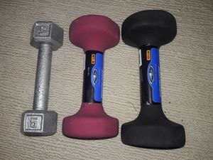 Exercise dumbbell + bar for Sale in St. Louis, MO