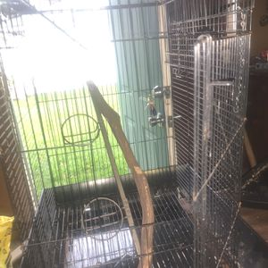 Double Door bird Cage With Custom Chilling Stick for Sale in Livonia, MI
