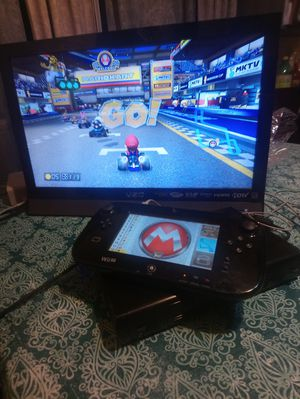 Nintendo Wii U TV Vizio and 3games Mario Kart for Sale in Las Vegas, NV