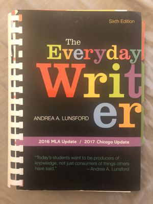 The Everyday Writer 6th edition 2016 MLA Update for Sale in Walnut, CA