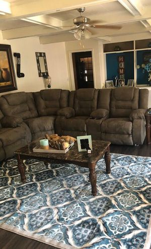 McCade Cobblestone Reclining Sectional /couch /living room set /Sofa for Sale in Houston, TX