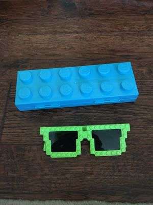 Lego pencil case and lego glasses for Sale in Yorba Linda, CA