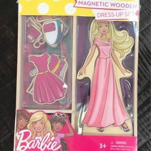 NEW and SEALED Barbie Wood Magnetic Doll Set just $7 for Sale in Port St. Lucie, FL