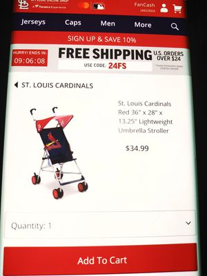 St. Louis Cardinals baby stroller New easy fold / carriola para Bebe coche de bebe for Sale in Phoenix, AZ
