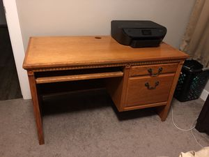 Solid wood desk for Sale in Salt Lake City, UT