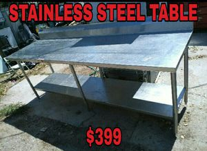 STAINLESS STEEL TABLE for Sale in Las Vegas, NV