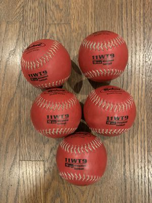 Markwort Color Coded Weighted 11-Inch Softball (9-Ounce, Red)= set of 5 Total for Sale in Los Angeles, CA