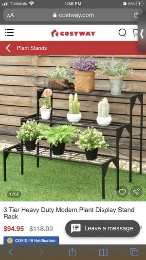Metal 3 tier plant stand for Sale in Corona, CA