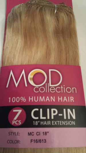 100 % human hair blonde extensions for Sale in Downey, CA