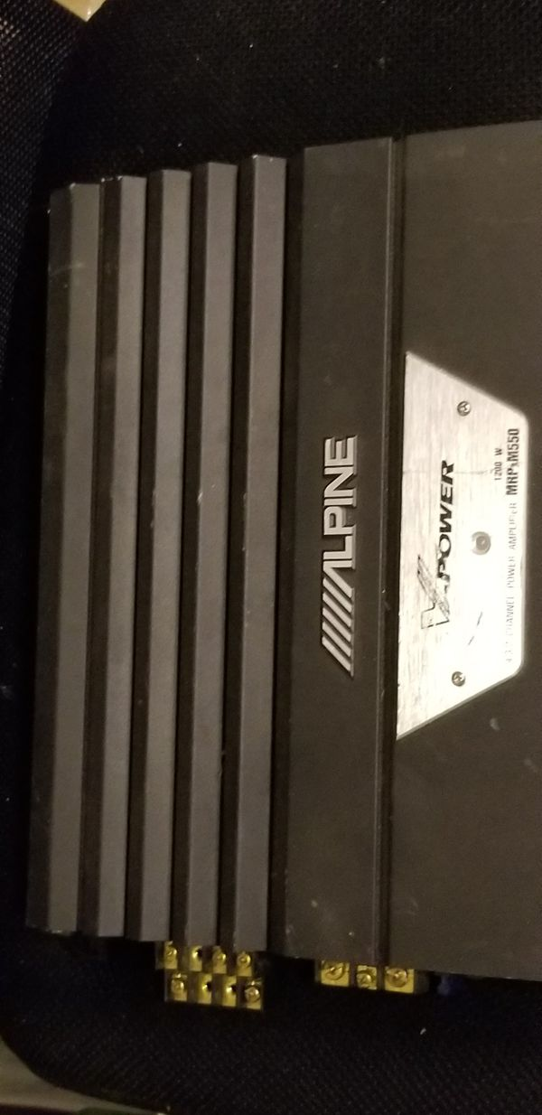 Alpine V-Power Amp, Model MRP-M550 1200 watt