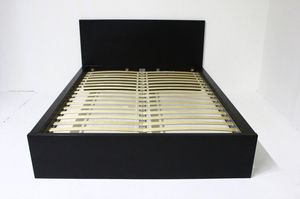 Queen Bed Frame w/ Solid Slats, Black-Brown for Sale in Philadelphia, PA