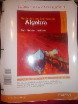 Binder ready beginning and intermediate algebra pearson for Sale in Jefferson City, MO