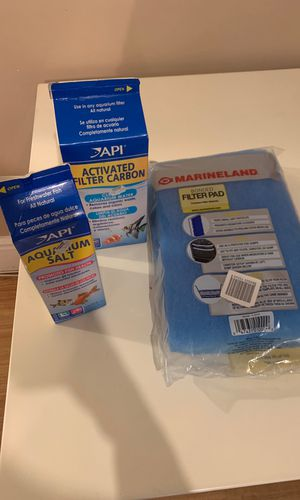 Filter pad/carbon and aquarium salt for Sale in Queens, NY