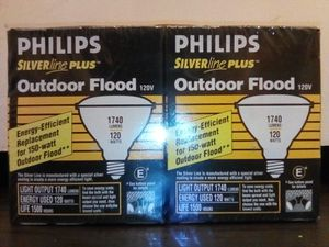 Philips Silver Line Plus™ Outdoor Flood 120V Energy-Efficient Replacement for 150-watt Outdoor Flood** (2 Bulb Pack) (Brand New) for Sale for Sale in San Jose, CA