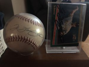 Autographed Tim Wakefield Baseball and Baseball Card for Sale in Franklinton, NC