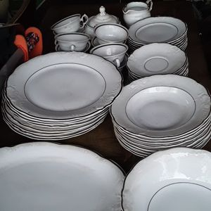 50's Platinum Rimmed China for Sale in Irving, TX