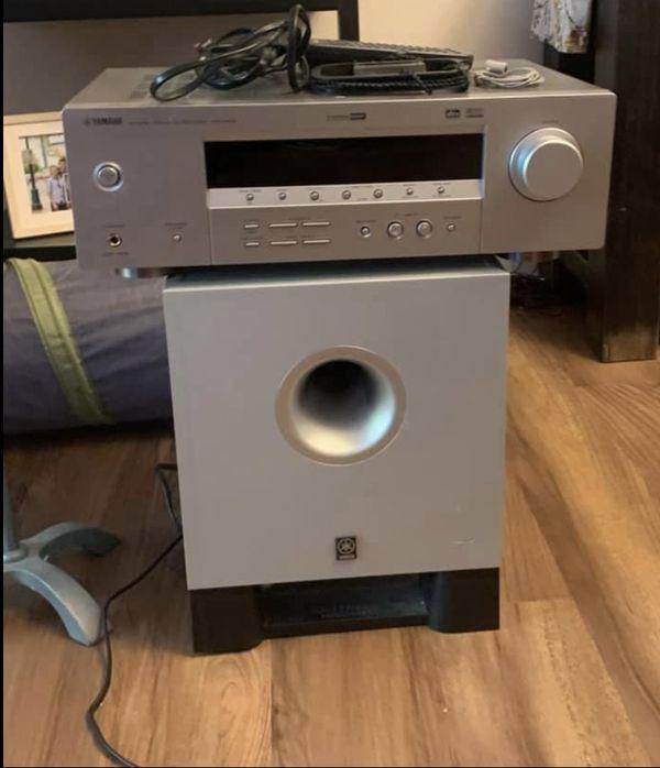 Bose 161 Speakers, Yamaha Subwoofer, Yamama AV Receiver