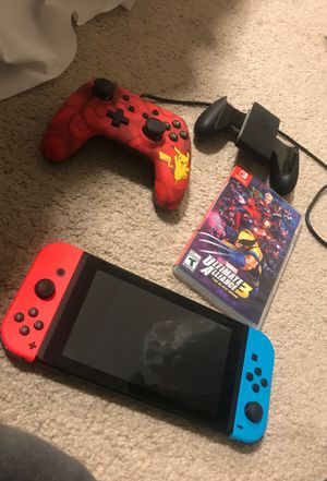 NINTENDO SWITCH PLUS GAME AND CONTROL for Sale in Kennesaw, GA