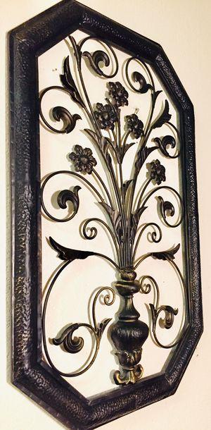 Decorative metal wall art H33xW20xD2 inc for Sale in Sun Lakes, AZ