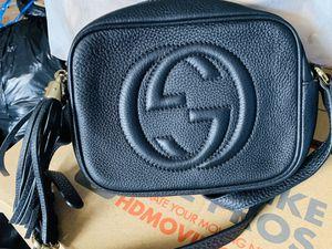 GUCCI Soho Disco Shoulder Bag Black Leather Cross body for Sale in Covington, GA