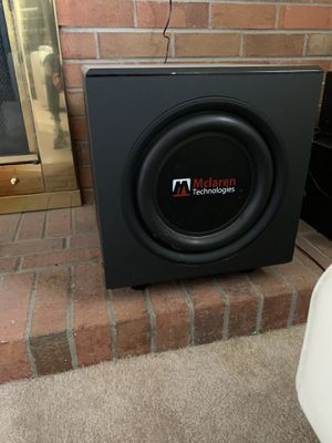 Sony receiver And Mclaren subwoofer and speakers for Sale in Aurora, CO