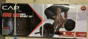 CAP Barbell Vinyl Weight Set - 100LBS for Sale in Upland, CA