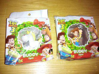 2009 Mattel Disney Pixar * holiday wreath * Toy Story 3 Buddy Figures * hangs on Christmas tree for Sale in Washington,  DC