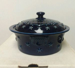 Longaberger pottery American Eagle covered casserole dish. New in box for Sale in Wilkes-Barre, PA