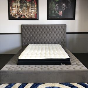 Gray Queen Bed Frame 🔥 for Sale in Fresno, CA