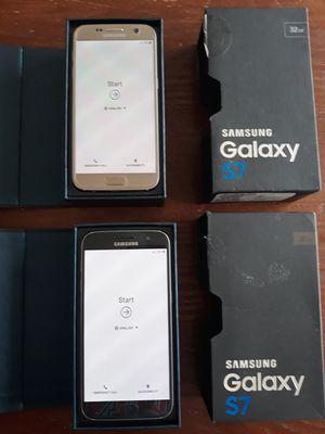 2 INTERNATIONALLY UNLOCKED SAMSUNG GALAXY S7 PHONES for Sale in Sudley Springs, VA