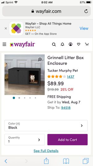 Grinnell cat litter box enclosure for Sale in Concord, CA