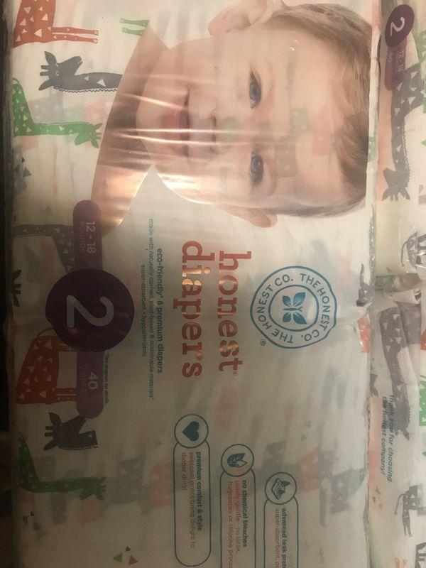 $25 5 Packs Honest Diapers Size 2 Giraffe print