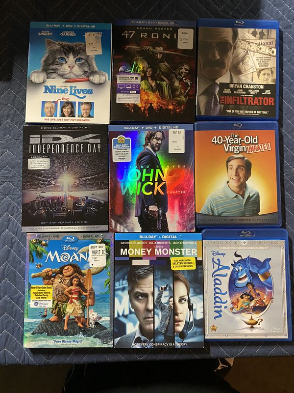 Blu-Ray DVD for sale - great titles - $7 each bluray movies please read list of movie's - 6 for $35