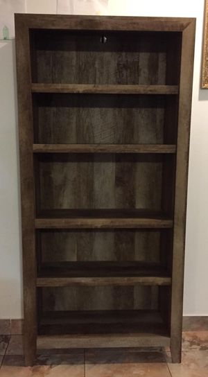 New!! Bookcase, Storage Unit, Organizer,5 Shelf Bookcase,-Craftman Oak for Sale in Phoenix, AZ