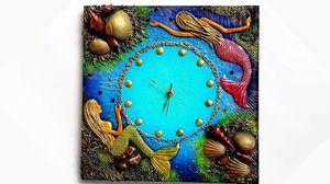 Mermaid Wooden clock for Sale in Herndon, VA