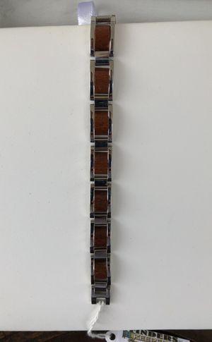 Men's Stainless Steel w/wood Bracelet for Sale in Madison Heights, VA