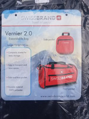 Swiss Travel Duffle Bag - Compact Expanding Bag for Sale in Renton, WA