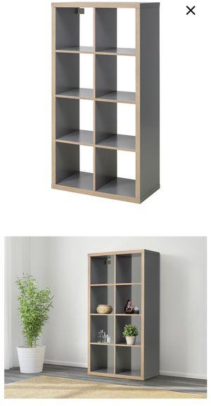 IKEA Kallax Shelves - Grey / Wood Effect for Sale in Portland, OR