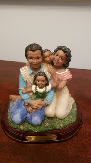 Painted Family Figurine for Sale in Saginaw, MI