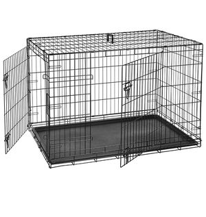 Single-Door & Double-Door Folding Metal Dog or Pet Crate Kennel with Tray cover and bed for Sale in Fort Lauderdale, FL