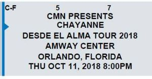 CHAYANNE - Amway Center for Sale in Orlando, FL