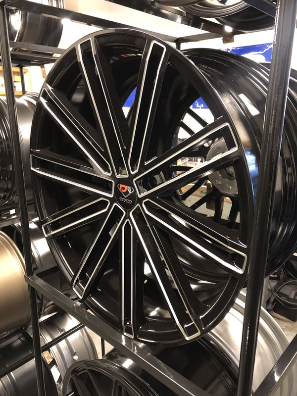 BRAND NEW set (4) 20 inch Gloss Black and Milled rims for only $700!!!