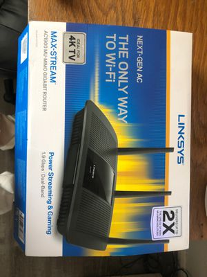 WiFi Router LINKSYS for Sale in Apple Valley, CA