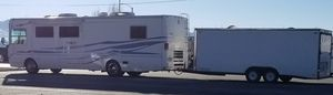 2000 National RV Marlin 370 Diesel Pusher. 2013 Polaris RZR 900 XP4. 2005 Carson Racer Cargo Trailer 20'x8' Package Deal! $50,000 for Sale in Visalia, CA