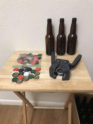 Amber Long Neck 12oz Bottles W/Italian Hand Capper for Sale in Austin, TX