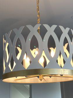 Visual Comfort JN5046WHT/G Julie Neill Ingrid 6 Light 24 inch Matte White and Gild Chandelier BRAND NEW for Sale in McLean,  VA