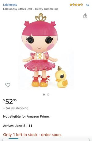 Lalaloopsy little doll for Sale in Los Angeles, CA