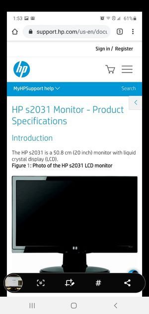 HP computer monitor for Sale in Thomasville, NC