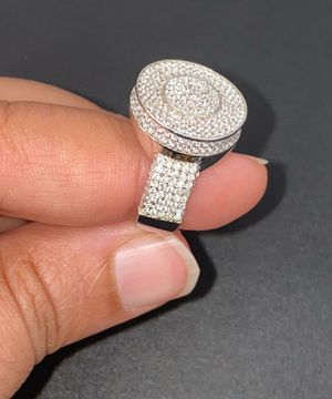 Icedout 925 sterling silver Pinky Ring Bling size 8 for Sale in Los Angeles, CA
